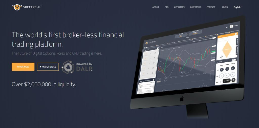 Spectre.ai - The world's first broker-less financial trading platform