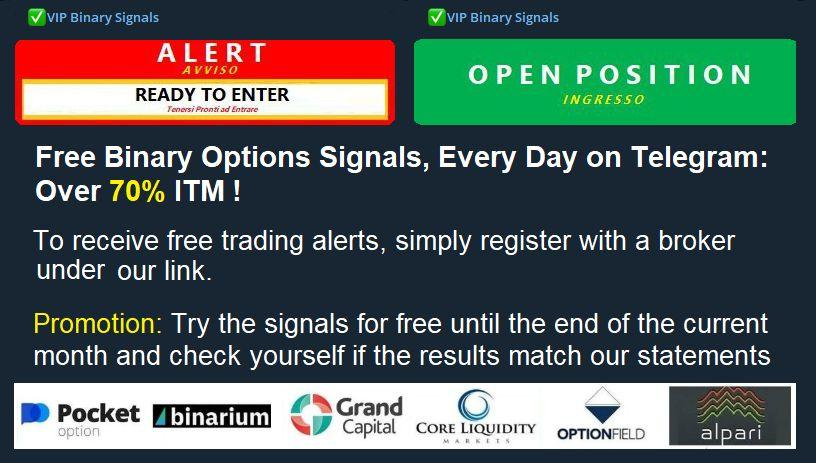 Best Free Binary options signals live on Telegram