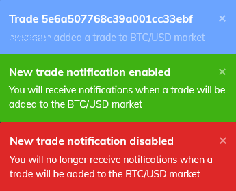 Trading notification