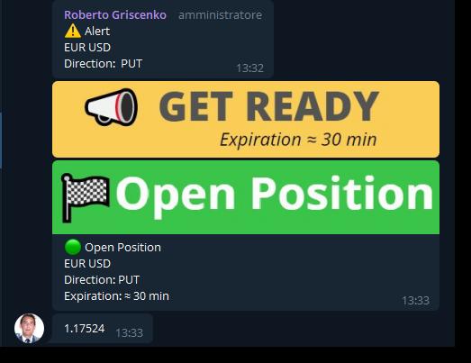 Telegram Demo Room screenshot Signal (Eur/Usd Put 30m)